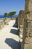 Antiquity historical city Kamiros ruins, Rhodes,Greece Royalty Free Stock Photography