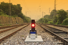 Antiquity railway and signal lamp Stock Image