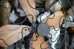Antique Wood and Metal Fan Stock Photo