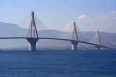 antirio bridżowy Greece Peloponnese Rio fotografia stock