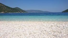 Antisamos海滩, Kefalonia,希腊 免版税库存照片