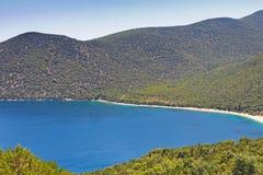 Antisamos στο νησί Kefalonia, Ελλάδα Στοκ Φωτογραφίες