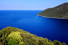 Antisamos bay at kefalonia island Stock Photo