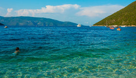 Antisamos plaża Kefalonia Grecja Fotografia Royalty Free