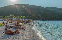 Antisamos plaża Kefalonia Grecja Obrazy Stock