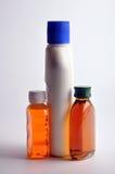 Antiseptic Liquid. Bottles on white background Royalty Free Stock Photo