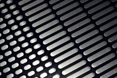 Antislip geweven patroon op roestvrij staalbasis van roltrap Stock Foto's