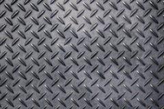 Antislip grijze metaalplaat met diamantpatroon royalty-vrije stock afbeeldingen