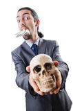 Antismoking concept with man Stock Photography