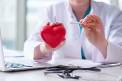 The antismoking concept wih heart in medical concept royalty free stock photo