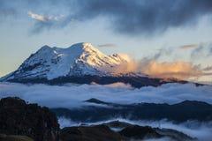 Antisna volcano. Antisana volcano at sunset, Ecuadorian Andes Royalty Free Stock Photo
