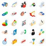 Antispam icons set, isometric style. Antispam icons set. Isometric set of 25 antispam vector icons for web isolated on white background Royalty Free Stock Image