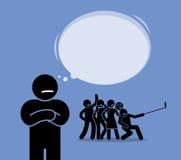 Antissocial ou antissocial ilustração stock