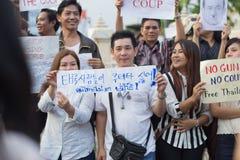 Antistaatsgreep in Thailand Royalty-vrije Stock Afbeeldingen