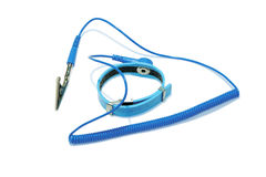 Antistatic wrist strap. Royalty Free Stock Images