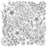Antistress kleurende pagina voor volwassenen vector illustratie