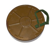 Antitank mine. back view Stock Photo
