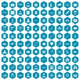 100 antiterrorism icons sapphirine violet. 100 antiterrorism icons set in sapphirine hexagon isolated vector illustration vector illustration