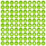 100 antiterrorism icons set green circle. Isolated on white background vector illustration vector illustration
