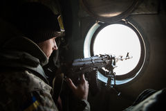 Antiterrorist operacja w Donetsk regionie, Ukraina Obrazy Stock