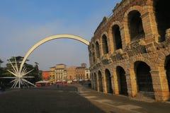 Antitheatre von Verona verzierte für Weihnachten Lizenzfreies Stockbild