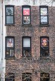 Antitrumpf-Protest-Gebäude lizenzfreie stockfotografie