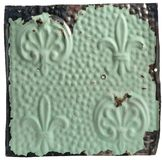 Antiue ceiling tile with fleur-de-lis design Royalty Free Stock Photos