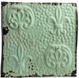 Antiue ceiling tile with fleur-de-lis design Stock Photography
