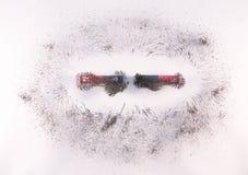 Antivari magnetico nello stesso palo Fotografie Stock
