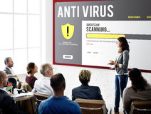 Antivirus Alert Firewall Hacker Protection Safety Concept Royalty Free Stock Image