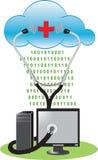 antivirus chmura ilustracji