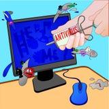 antivirus clyster royalty ilustracja