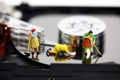 Antivirus del ordenador y concepto de la seguridad. Fotografía de archivo libre de regalías