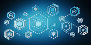 Antivirus digital blue interface 3D rendering Stock Photography