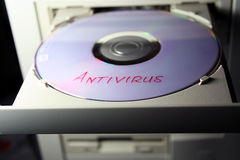 Antivirus disk Royalty Free Stock Photos