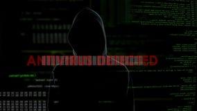 Antivirus ermittelt, erfolgloser Versuch, Computer mit trojan Virus anzustecken stock footage