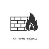 Antivirus firewall icon. Antivirus firewall. Internet security information protection minimal flat icon Stock Photography