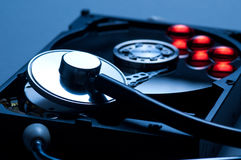 Antivirus and hard disk concept Stock Images