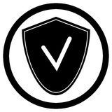 Antivirus ikony osłona royalty ilustracja