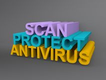 Antivirus illustration Stock Photos