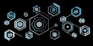 Antivirus interfejsu 3D cyfrowy błękitny rendering Fotografia Royalty Free