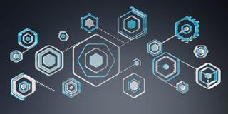 Antivirus interfejsu 3D cyfrowy błękitny rendering ilustracji