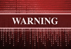 Antivirus. Mensaje de advertencia Fotografía de archivo
