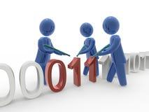Antivirus ploeg stock illustratie