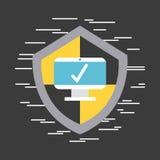 Antivirus program komputerowy Zdjęcie Royalty Free