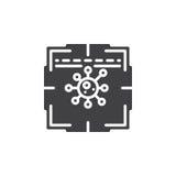 Antivirus przeszukiwacza ikony wektor ilustracja wektor