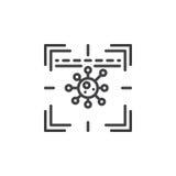 Antivirus scanner line icon. Outline vector sign, linear pictogram isolated on white. Symbol, logo illustration Stock Images