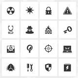 Antivirus and Security Icons Royalty Free Stock Photography
