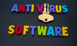 Antivirus software holds the key Stock Photography