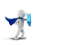 Antivirus superhero het 3d teruggeven royalty-vrije illustratie